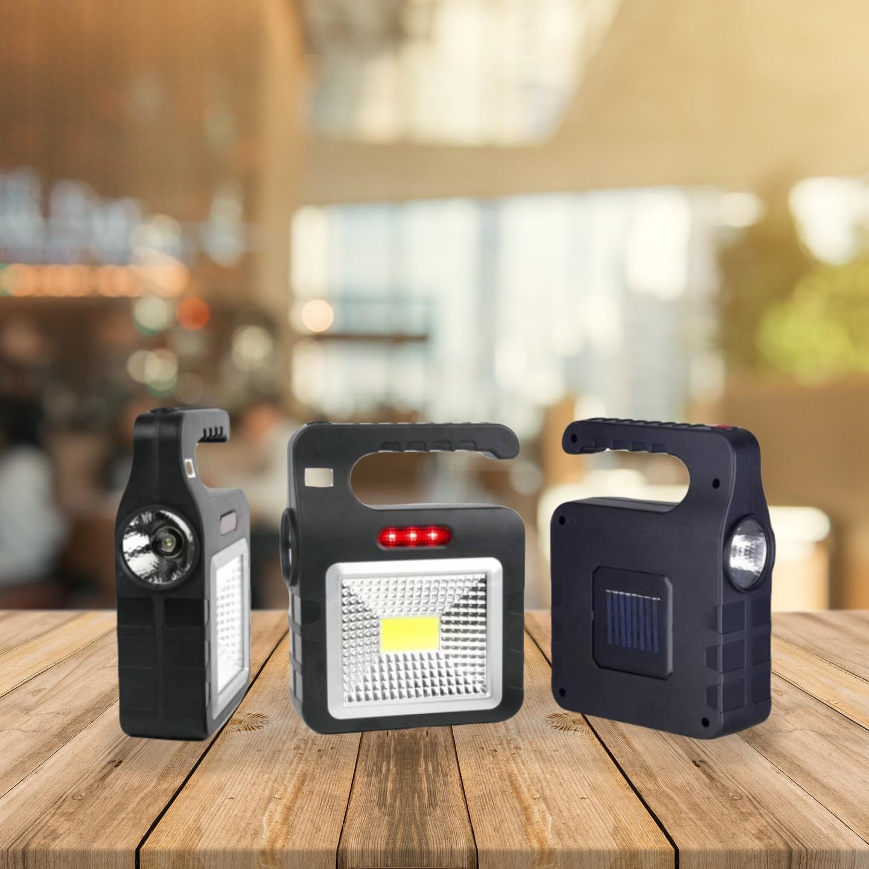 COB Work LED-Es Munkalámpa, Kempinglámpa Akkumulátorral.'