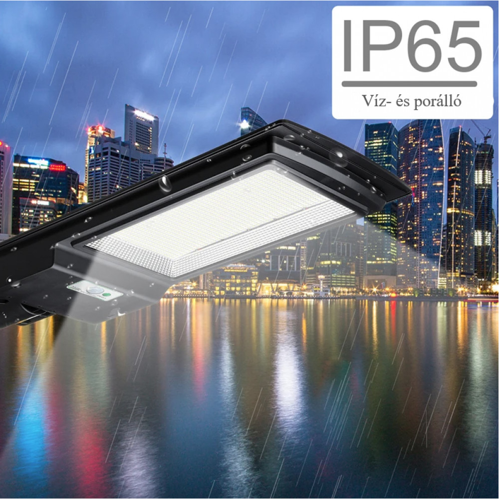Új Generációs, Intelligens 280 Wattos Utcai Solar LED Lámpa Távirányítóval.'